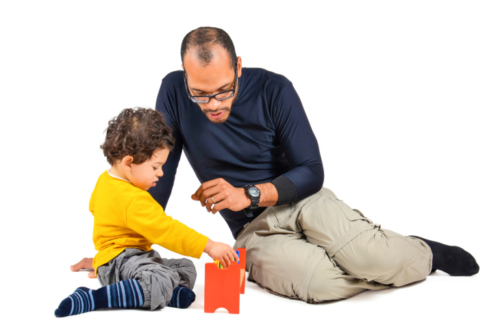 Therapist and child in play therapy
