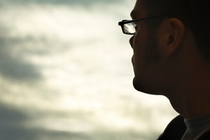 profile-of-man-looking-into-sky