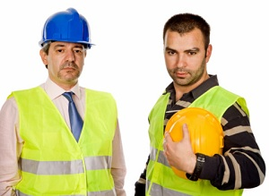 Construction worker and foreman