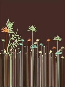 Minimalist illustration of plants