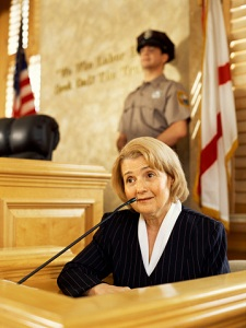 Woman testifying in court