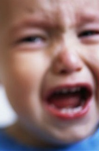 Close up of crying child