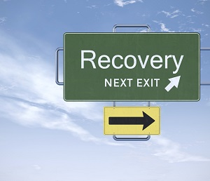 Recovery next exit sign