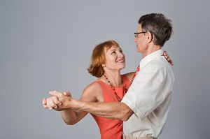 couple dancing the tango together