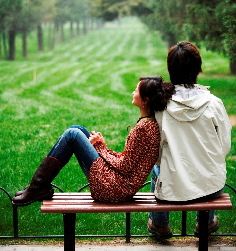 Couple on bench