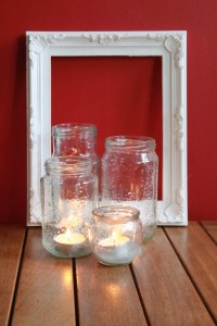 Lanterns from recycled Glass Jars