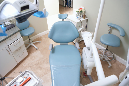 Chair in dentist's office