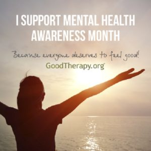 I support mental health awareness month.
