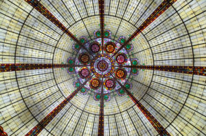 Dome made of stained glass murals