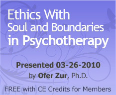 Ethics With Soul and Boundaries in Psychotherapy