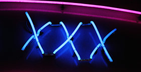 XXX in neon lights