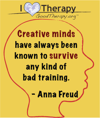 Quote on creative minds by Anna Freud