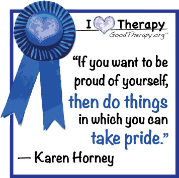 Quote on pride by Karen Horney