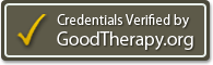 Credentials verified by Good Therapy