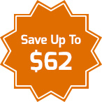 Save up to $62