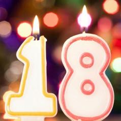 18th birthday candles