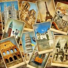 postcards from vacation destinations around the world