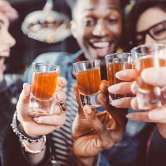 Group of friends drinking alcohol